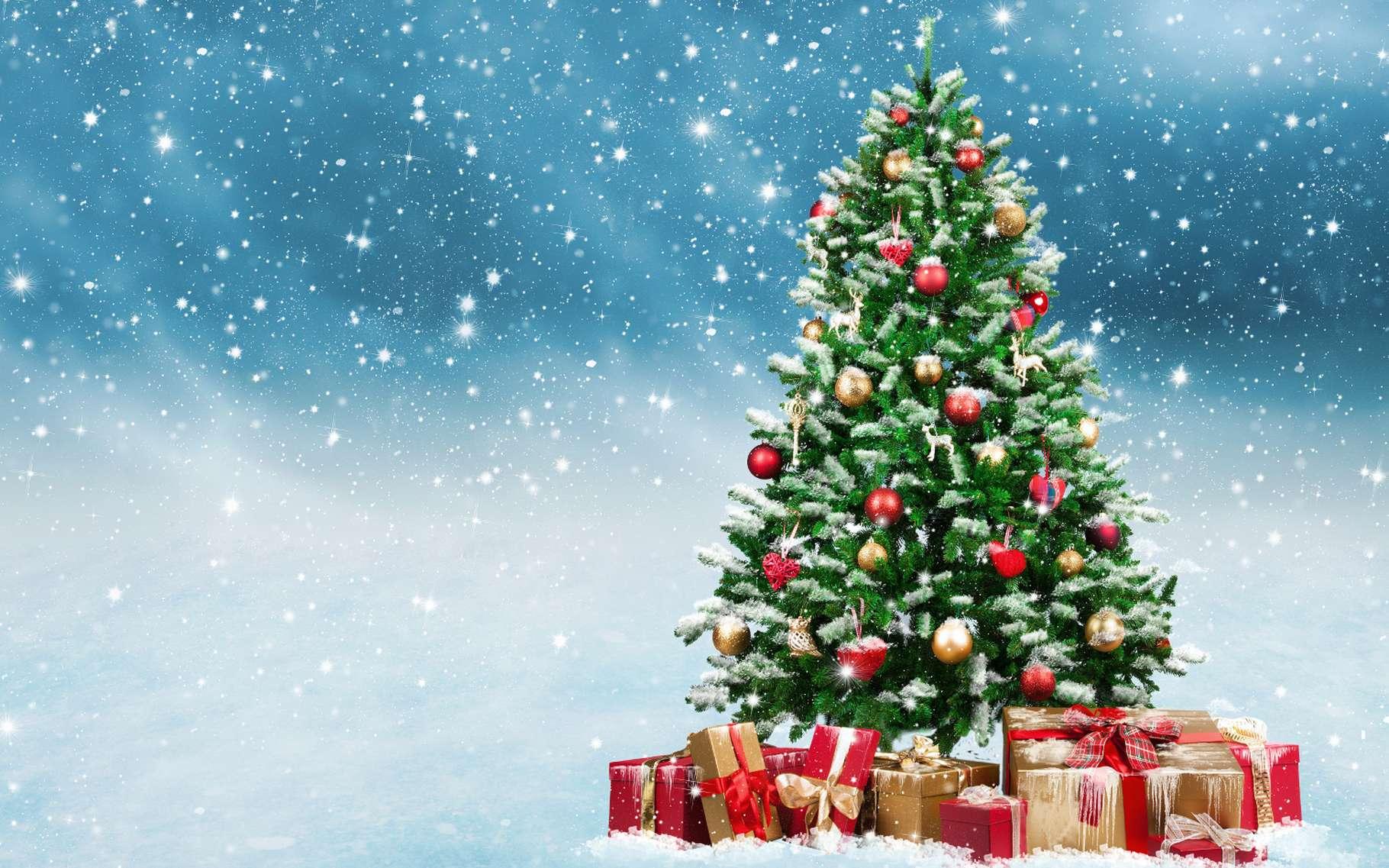 Doù Vient Le Sapin De Noël La Lumière De Noël