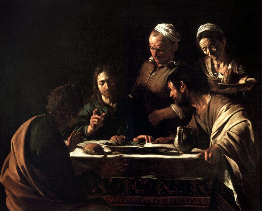Le souper à Emmaüs par Le Caravage (~1571-1610)