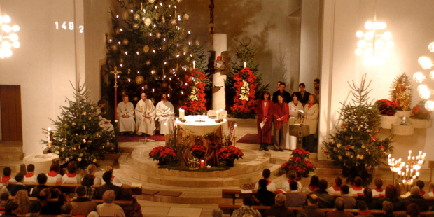 Messe de minuit diffusée à la télévision